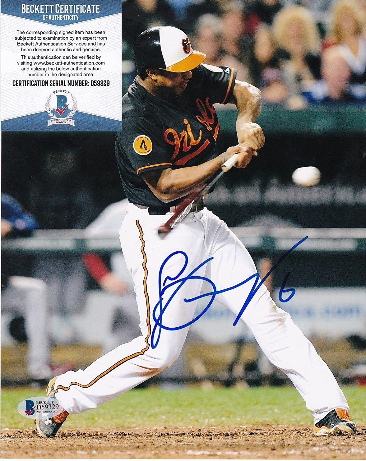 7b48d262c Jonathan Schoop Autographed Photograph - BECKETT 8x10 - Beckett  Authentication - Autographed MLB Photos at Amazon s Sports Collectibles  Store