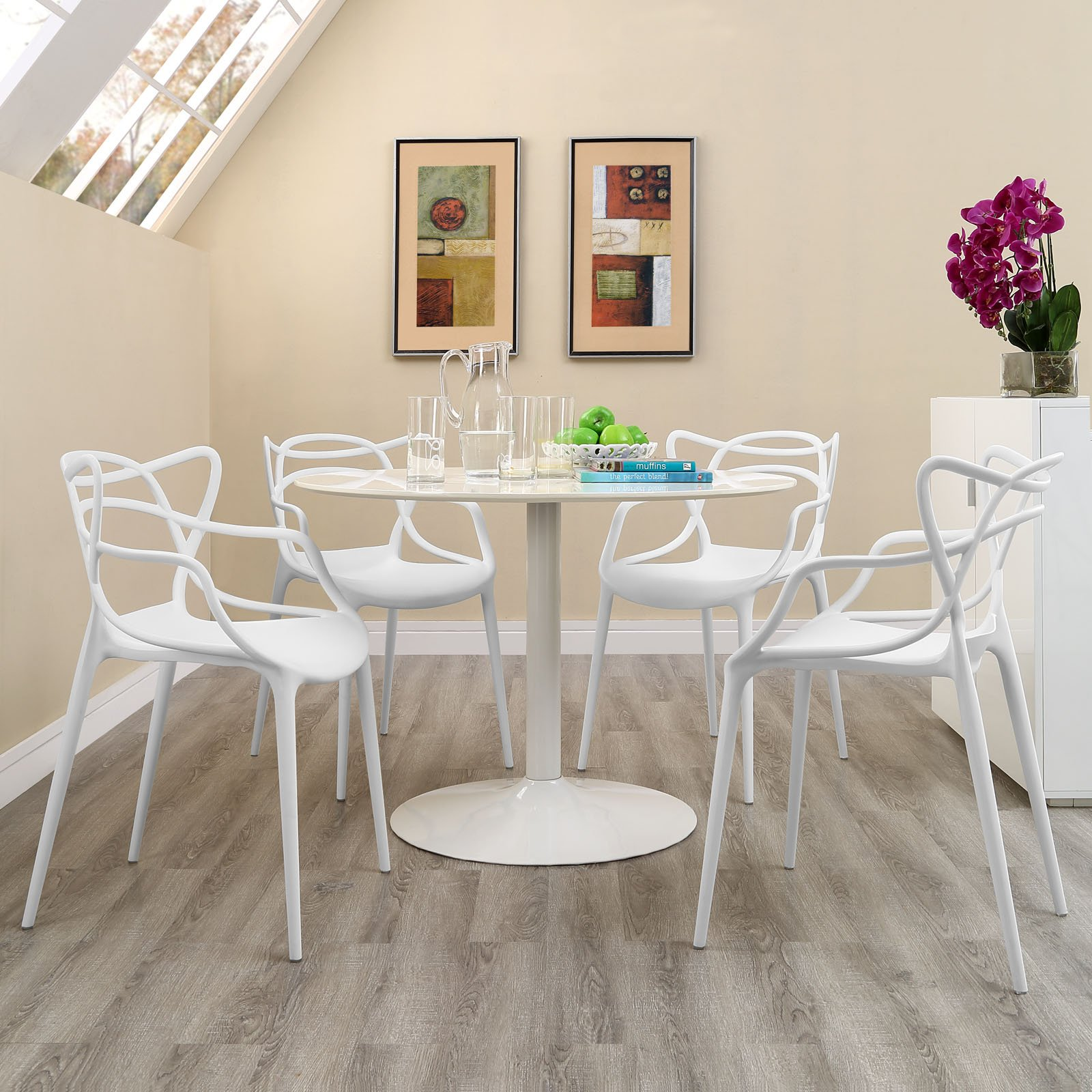 Modway Entangled Dining Set (Set of 4), White by Modway (Image #4)
