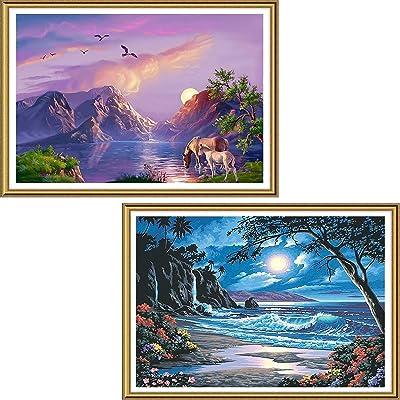 5D DIY Full Drill Diamond Painting Seaside Scenery Cross Stitch Embroidery Kits