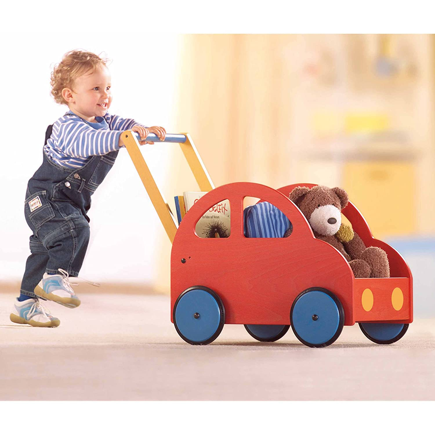 Amazon HABA Pushing Car Classic Walker Wagon Made in Germany