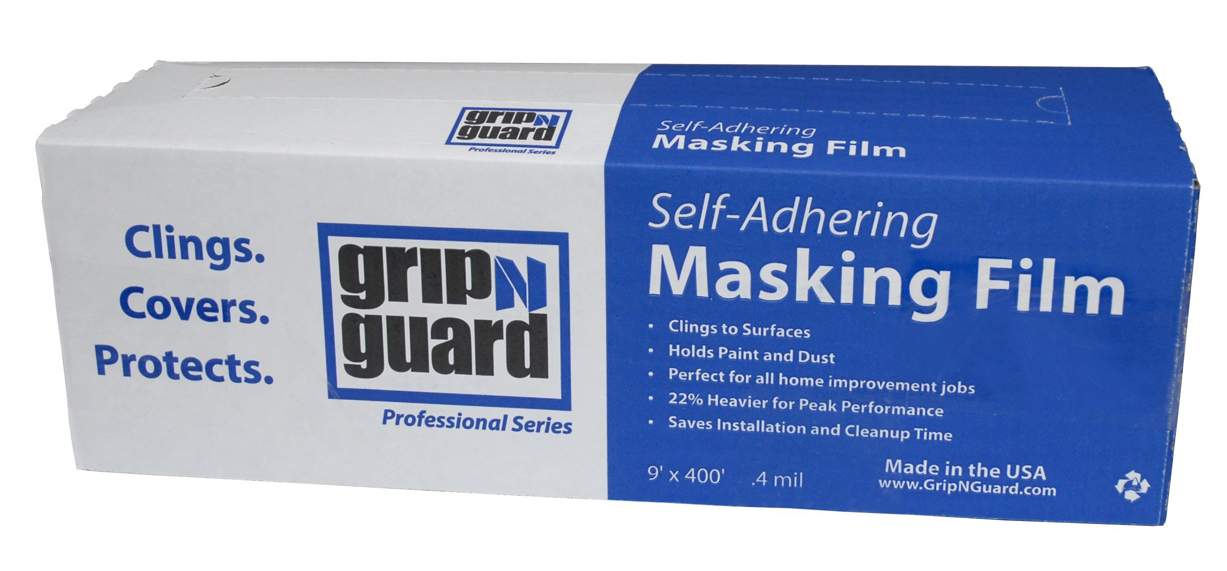 Grip-N-Guard FG-P9943-74 Self Adheing Masking Film 0.40ml, 9-Feet by 400-Feet