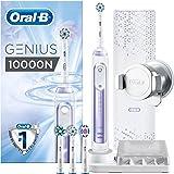 Oral-B 欧乐B Genius 10000N 电动牙刷,带牙龈保护助手和高级旅行盒,兰花紫