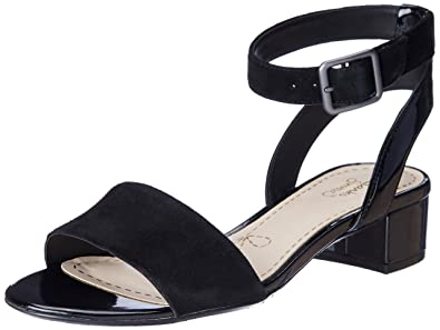Clarks Women's Sharna Balcony Black Combi SDE (Fit D) Fashion Sandals ...