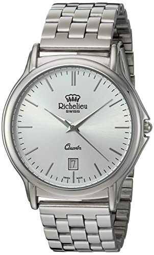 Image Unavailable. Image not available for. Color  Richelieu Men s Swiss  Quartz Metal and Stainless Steel Dress Watch ... 514f81f3a218