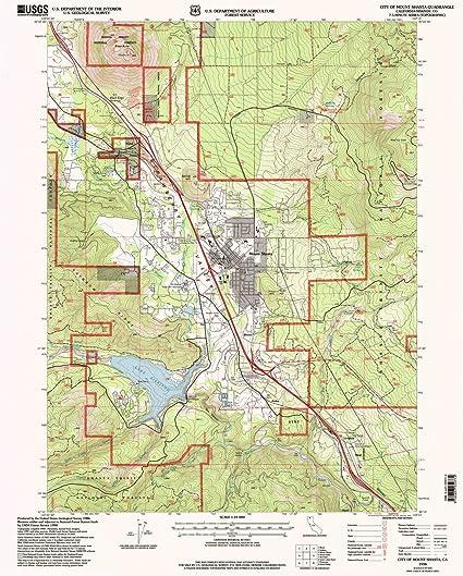 Amazon Com Yellowmaps City Of Mount Shasta Ca Topo Map 1 24000