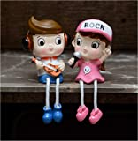 Store2508® Cute Boy & Girl Hanging Legs Showpiece Dolls (Pair) for Home Décor. Very Nice Gift Item