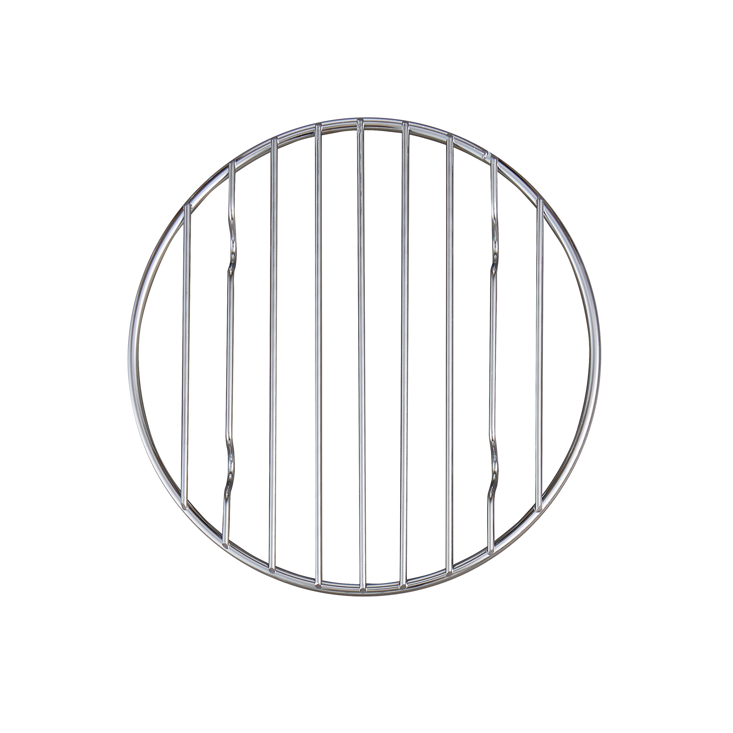 Baking Multi-Purpose Chrome Wire Round Cooling Rack Heavy Weight ...