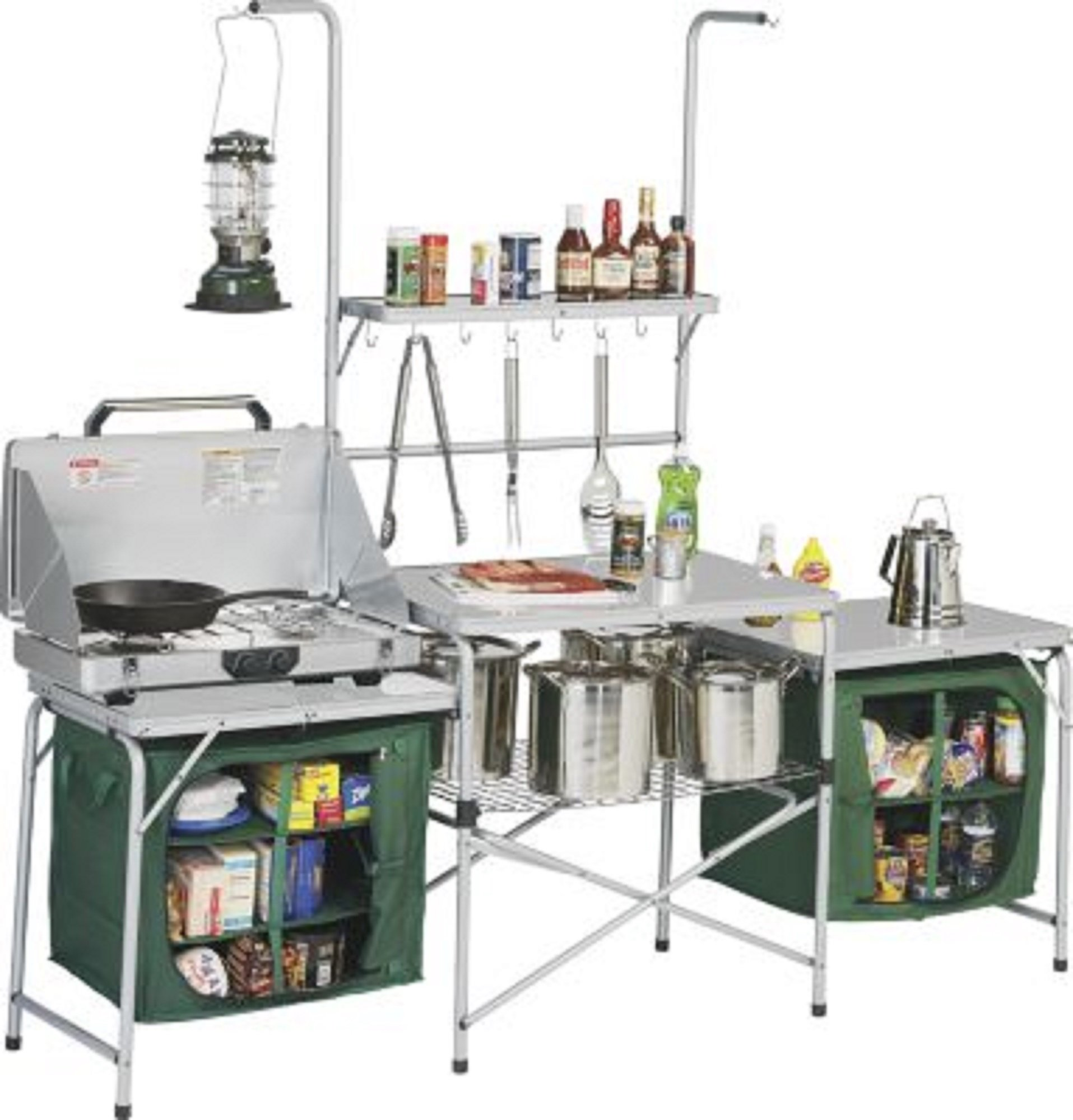 Portable Kitchen Sink Table Cart Counter Camping Outdoor Work ...
