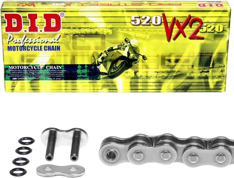 DID X-Ring VX2 2008-2009 Kettensatz f/ür Yamaha YFM 250 RSP Raptor Special Edition verst/ärkt