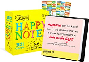 Instant Happy Notes 2021 Calendar, Box Edition Bundle - Deluxe 2021 Happy Notes Day-at-a-Time Box Calendar with Over 100 Calendar Stickers