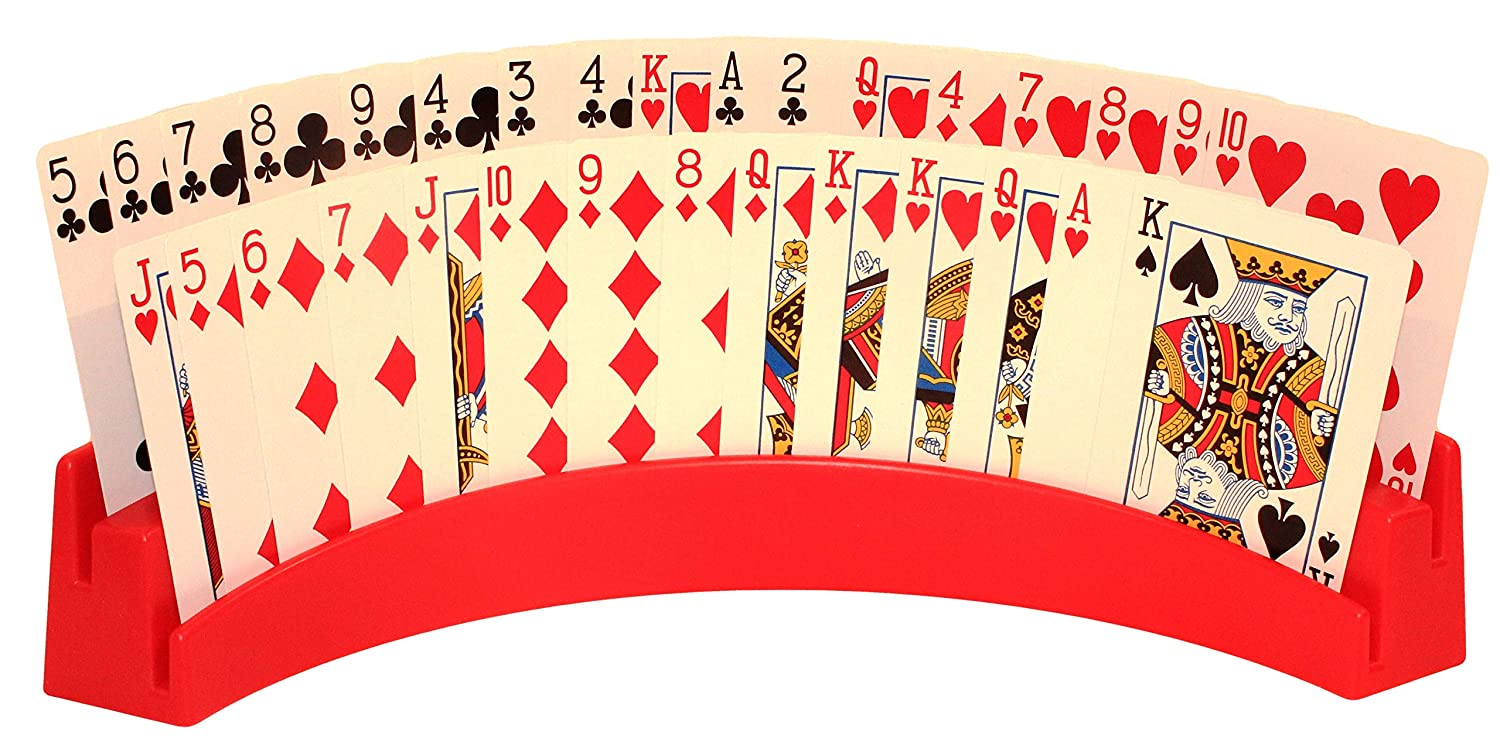 Twin Tier Premier Playing Card Holder (Set of 2) - Holds Up to 32 Playing Cards Easily - 12 1/2