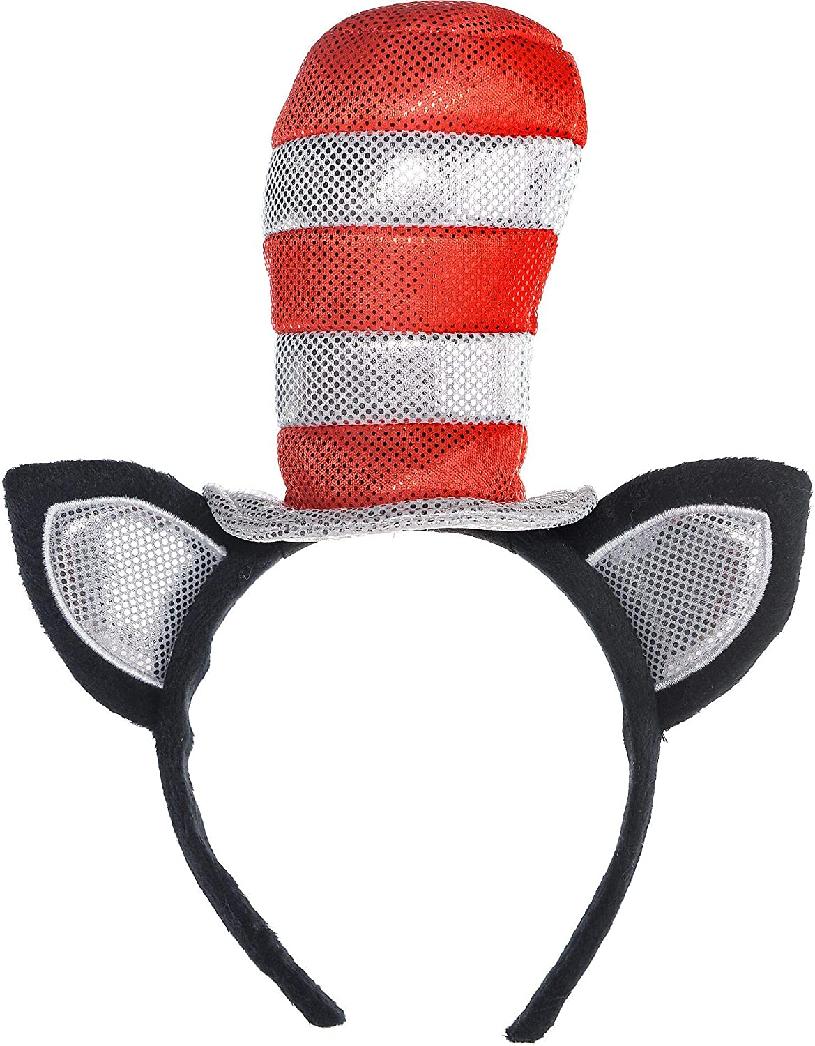 Costumes USA Dr  Seuss Cat in the Hat Cat Ears Headband for Kids  Halloween Costume Accessories  One Size