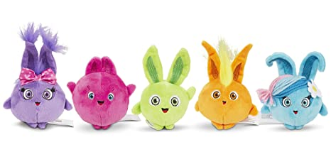 a6969cfde33 Amazon.com  Sunny Bunnies Squad Beanie Plush 5 Pack  Toys   Games