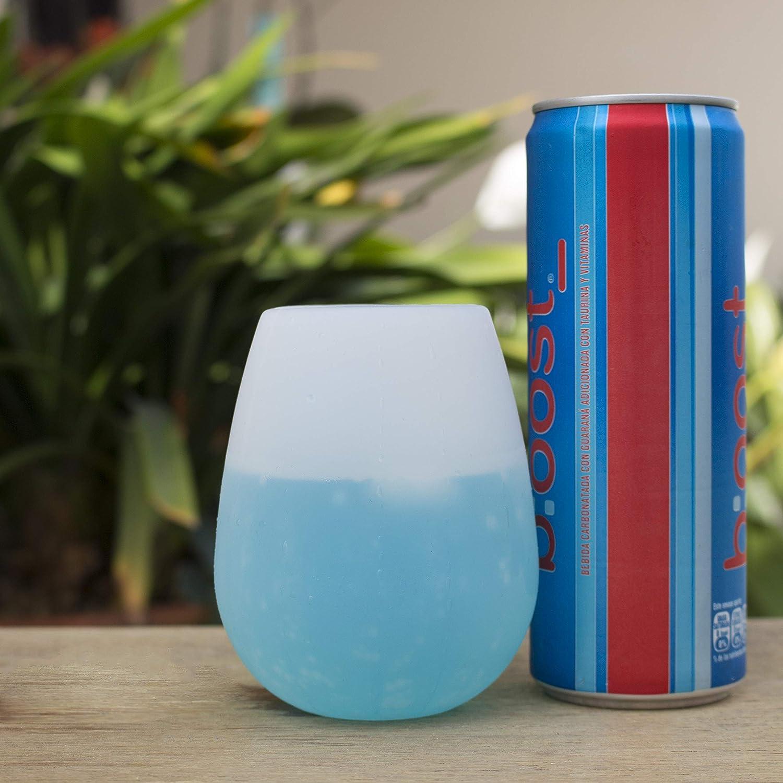 WineMeUp Vasos de Silicón para Vino, Set de Copas Irrompibles Reutilizables para Fiestas, Parrilladas y Días de Campo, Set de 4 Piezas: Amazon.es: Hogar