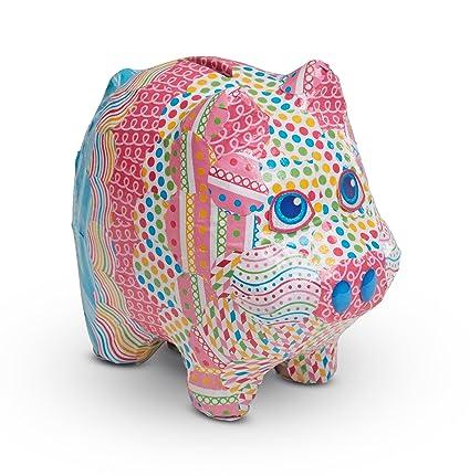 amazon com melissa doug decoupage made easy piggy bank children s