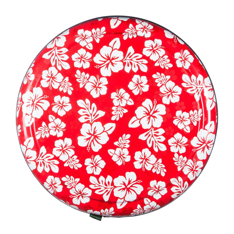 35'' Rigid Tire Cover (Plastic Face & Vinyl Band) - Hawaiian Print - Red by Boomerang (Image #2)