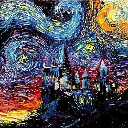 amazon com harry potter inspired art print starry night