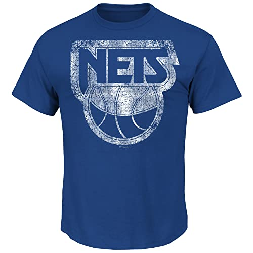 NBA Mens Majestic Weathered Post Up Short Sleeve Basic Crew Neck T-Shirt