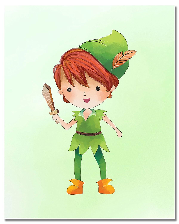 Peter Pan Kids Prints Set of 6 Original Art Decor 8x10 Photos