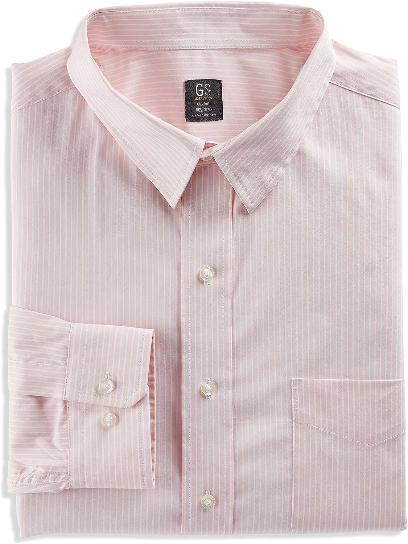 Pink DXL Gold Series Big and Tall Bengal Stripe Dress Shirt
