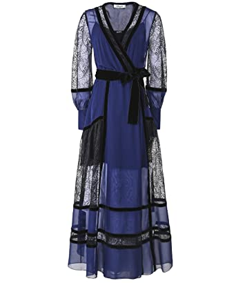 27b2487ca048d Amazon.com  Diane von Furstenberg Women s Silk Forrest Wrap Dress ...