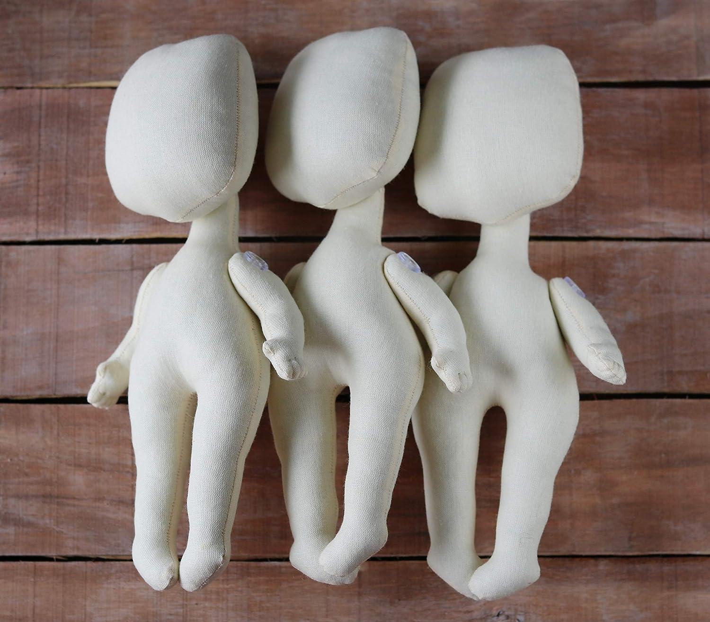 Cloth dolls Set of three dolls Blank Dolls 9