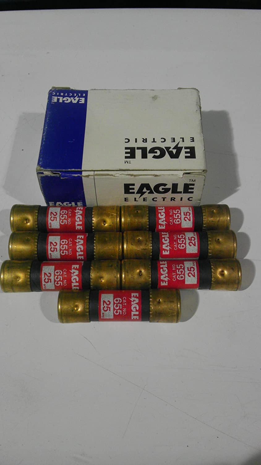 Box of 10 Details about  /Eagle 655 30 AMP 250 Volts N.E.C New Old Stock Cartridge Fuses