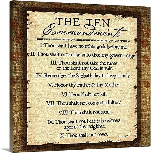 Ten Commandments Canvas Wall Art Print