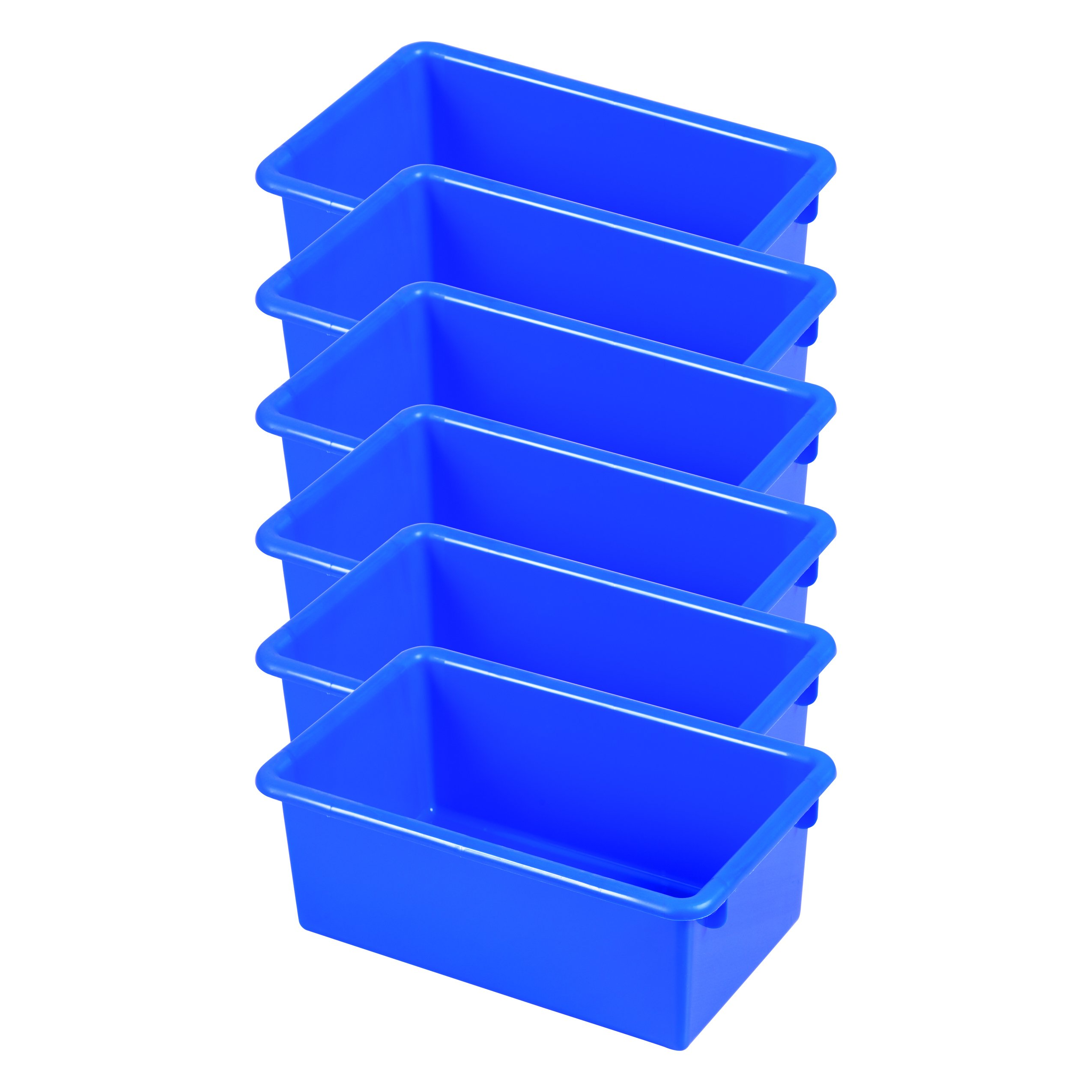 ECR4Kids Stack and Store Tubs, Blue (6-Pack)