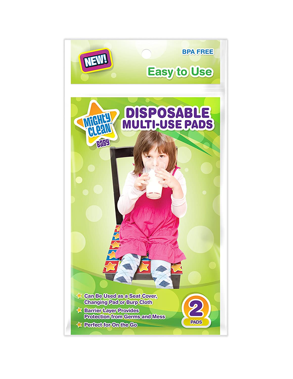 Mighty Clean Baby Disposable Multi-Use Pad 9 Packs of 2 Pads 18 Count