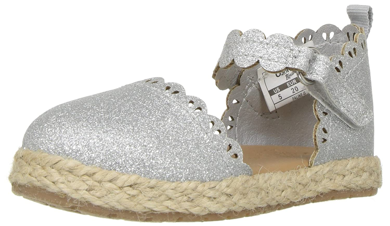 OshKosh B'Gosh Kids Faline Girl's Closed Toe Espadrille Sandal Mary Jane Flat OshKosh B' Gosh