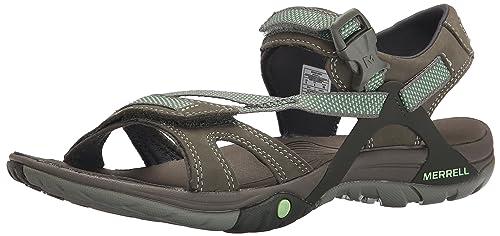 Merrell Azura Strap, Women's Velcro Hiking Sandals - Medium Green, ...