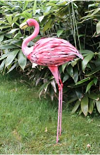 Fachhandel Plus XL Dekofigur Flamingo 89 Cm Metall Gartendeko Vogelfigur  Tierfigur Statue
