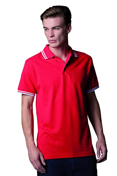 ee162d5fddf588 Kustom Kit Contrast Tipped Pique Polo Shirt, workwear, short sleeve ...