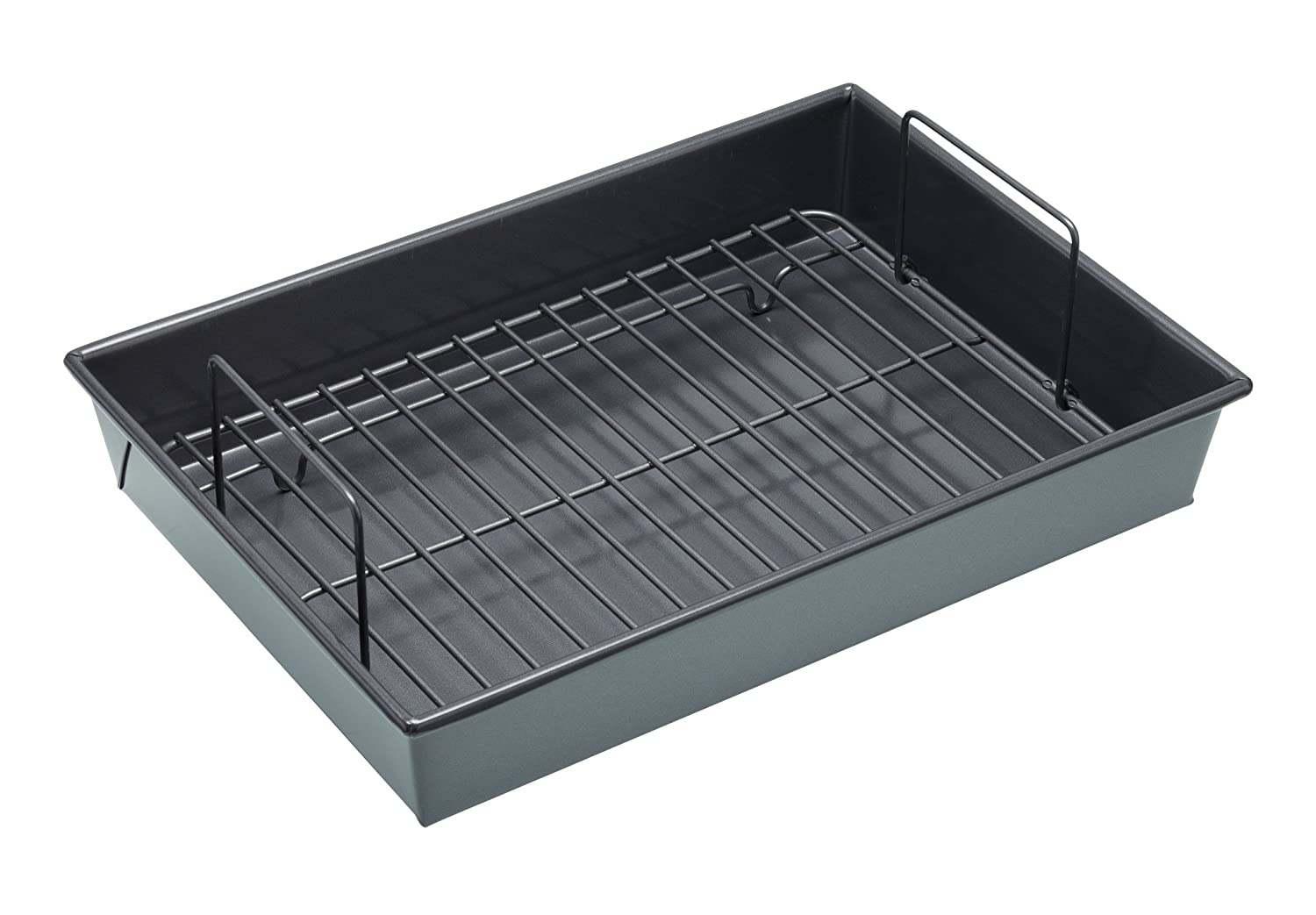 Chicago Metallic Professional Non-Stick Roasting Tin with Rack, 34 x 24 x 6 cm (13.5