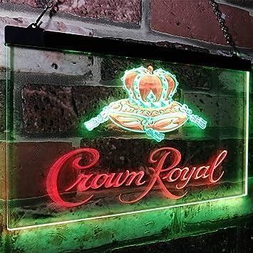 Amazon.com: zusme Crown Royal Beer Bar - Cartel de neón con ...