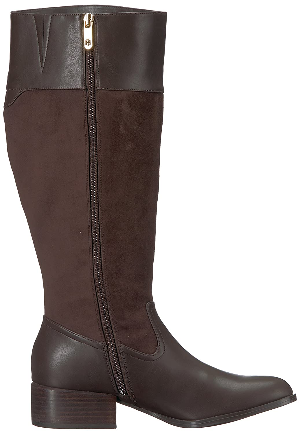 Tommy Hilfiger Women's Madeln-Wc Equestrian Boot B075RLSVKK 6 B(M) US|Brown/Brown