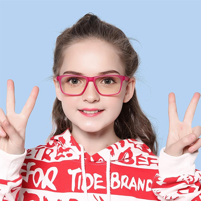 Fake Glasses Anti Bluelight Glasses for Kids Blue Light Glasses for Kids Girls Boys Age 7-12 Penbea Kids Blue Light Blocking Glasses Black