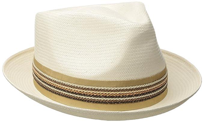 012754354 Carlos Santana Men's Shantung Pinch Front Hat