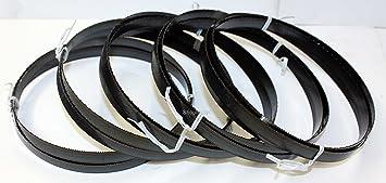 5 x Standard S/ägeband Bands/ägeband Bands/ägeblatt S/ägeb/änder 1425 mm x 6 mm x 0,65 mm x 14 Z/ähne pro Zoll f/ür Metall Rohre Hohlk/örper Profile Schwarzblech Vollmaterial teilweise Baustahl S 235 JR f/ür : Geme