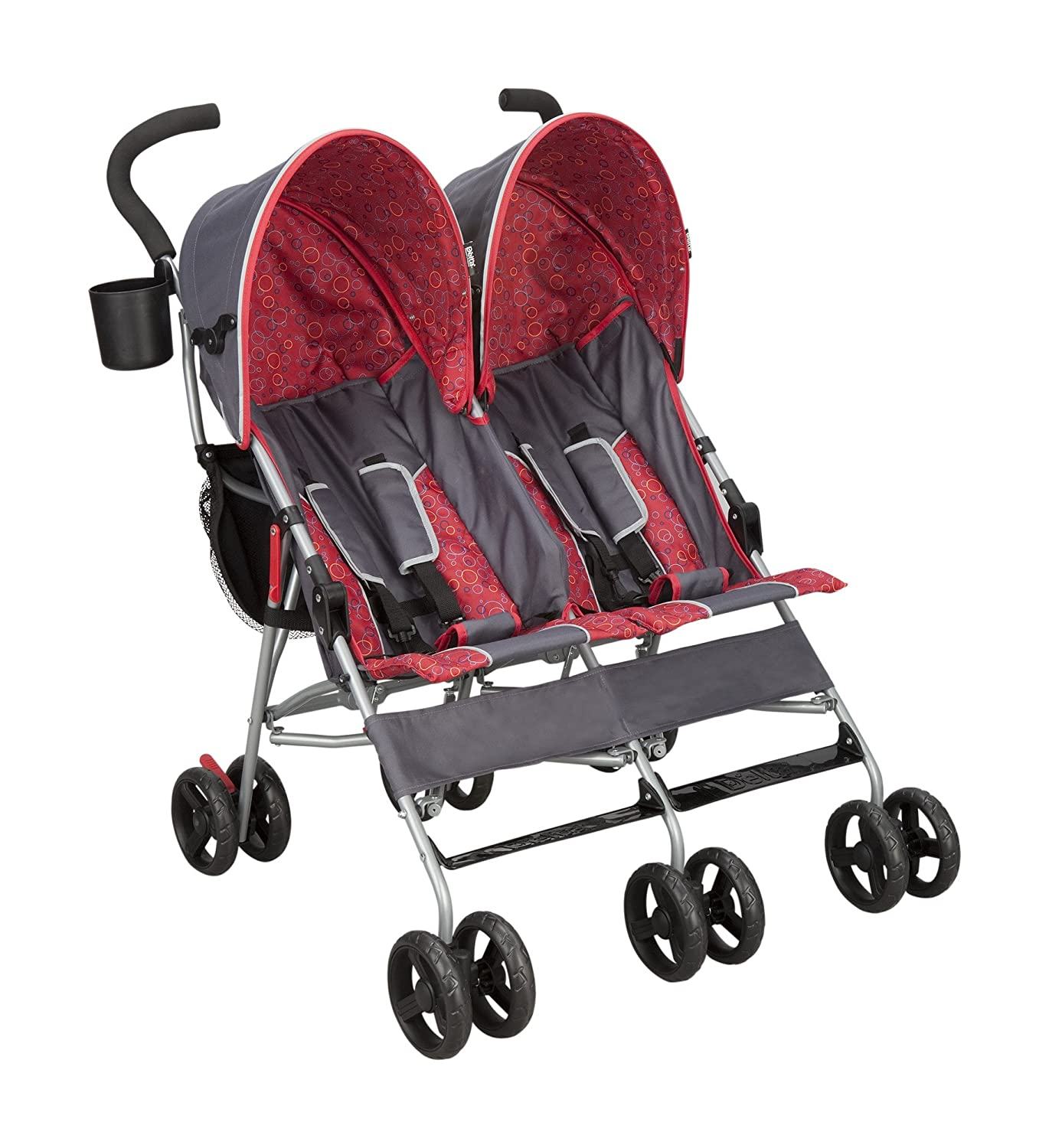 Delta Children City Street LX Side by Side Stroller, Grey Delta Children' s Products 11701-026