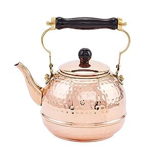 Old Dutch 852 Tea Kettle, 2 Qt, Copper