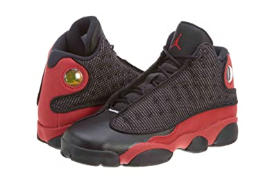 new product df10b 432ba NIKE Boys Air Jordan 13 Retro (GS) Bred Leather Basketball Shoes