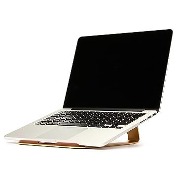 URCOVER Base Ordenador Atril Portátil / Tablets | Universal | Soporte Apoyo Refrigeración Laptop / Notebook / en Aluminio Dorado: Amazon.es: Electrónica