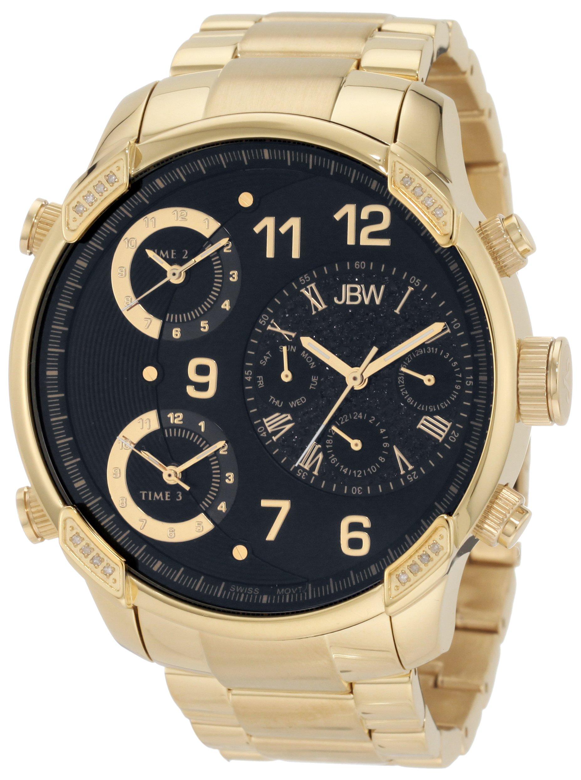 """Jbw Men's J6248E """"G4"""" Multi-Time Zone Lifestyle Diamond Watch 6"""