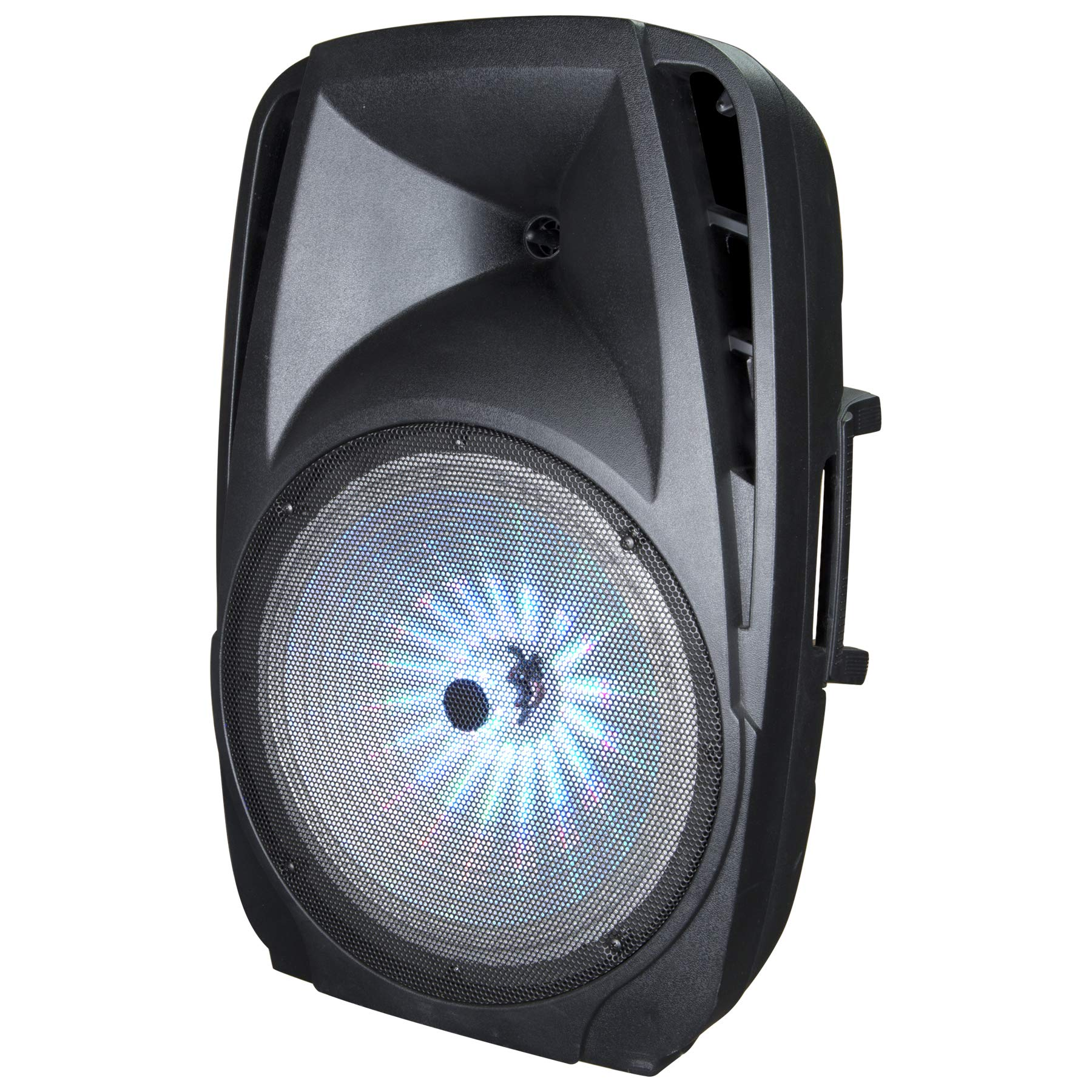 iLive ISB718B Wireless Tailgate Party Speaker, with LED Light Effects and Built-in Rechargeable Battery, Black