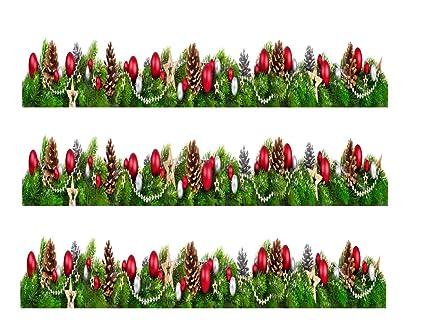 Amazon.com: Christmas Ornaments Edible Icing Image Cake Border ...