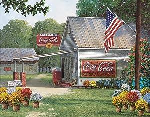 Springbok 500 Piece Jigsaw Puzzle Coca-Cola Country General, Multi (33-01537)