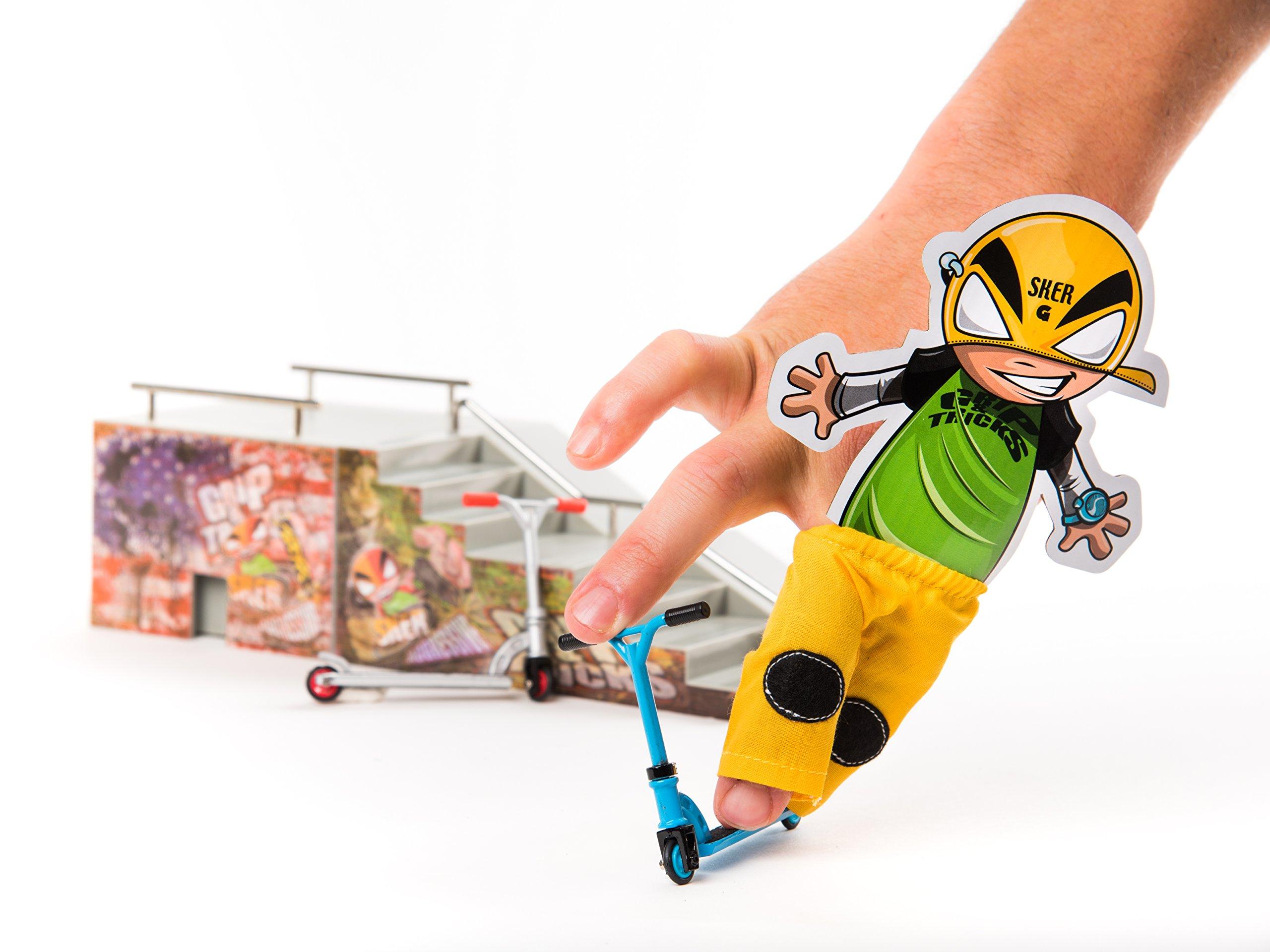Grip & Tricks - Finger SCOOTER - Skate - Pack1 - Dimensions: 22 X 13,5 X 2 cm by Grip&Tricks by Grip&Tricks (Image #5)