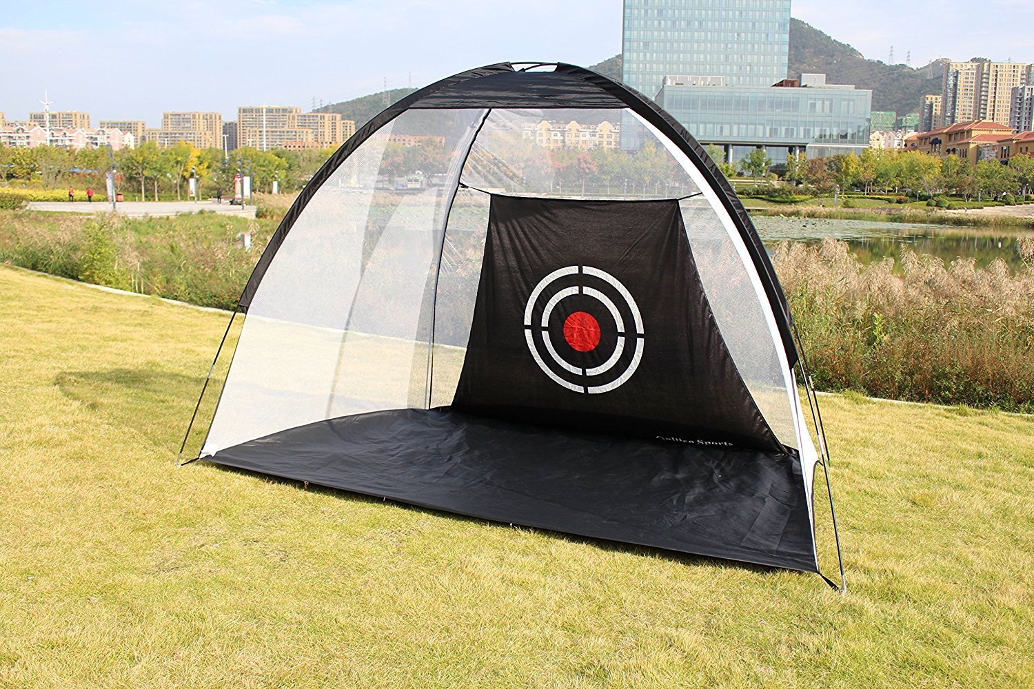 Galileo Golf Net Training Aids Hitting Practice Training Nets for Backyard Driving Range Indoor Use Golf Cage Tent Swing Training Aid with Target 10'x6.5'x6' by GALILEO
